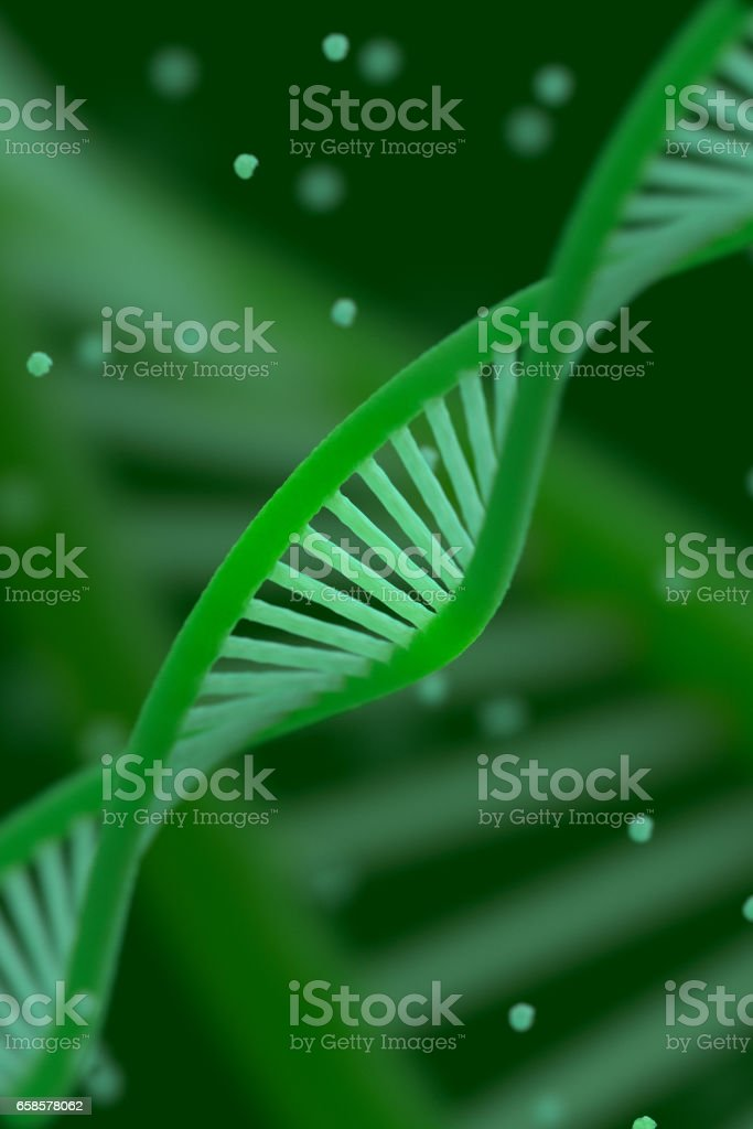 DNA chain macroshot stock photo