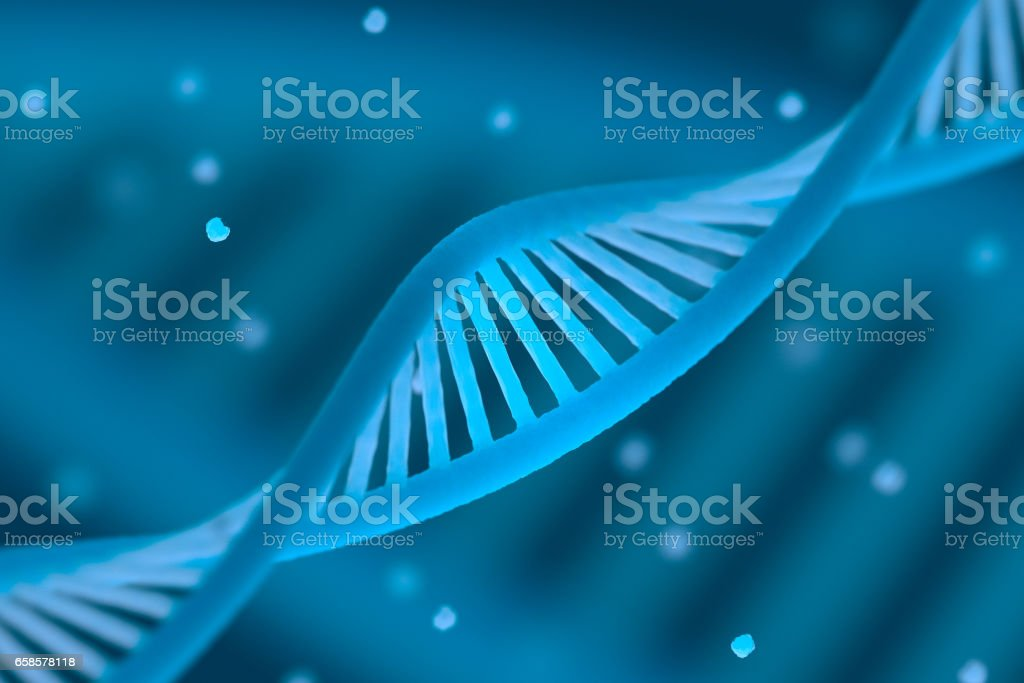 DNA chain macroshot stock photo