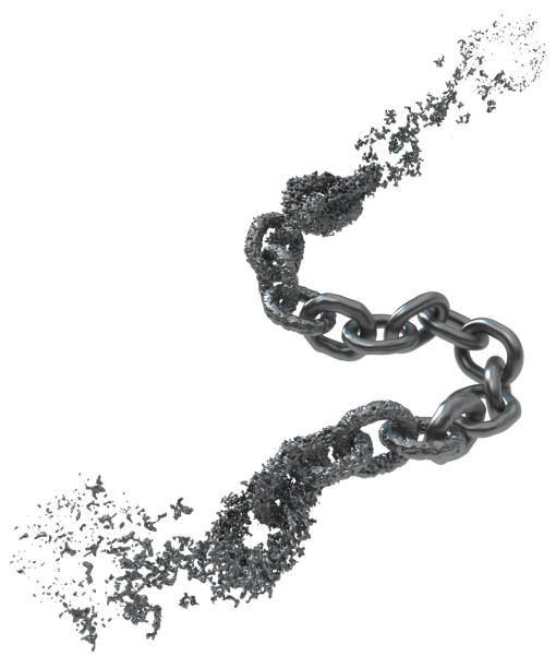 chain metal liquid segment - disintegrate stock pictures, royalty-free photos & images