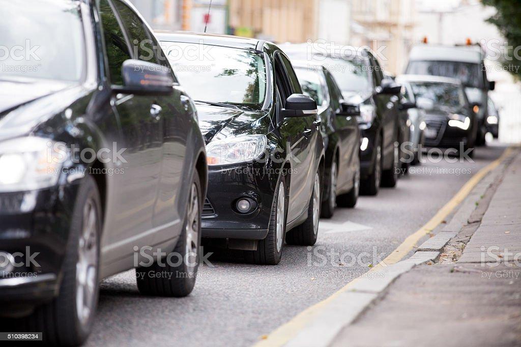 Cadena de automóviles en el hotel - foto de stock