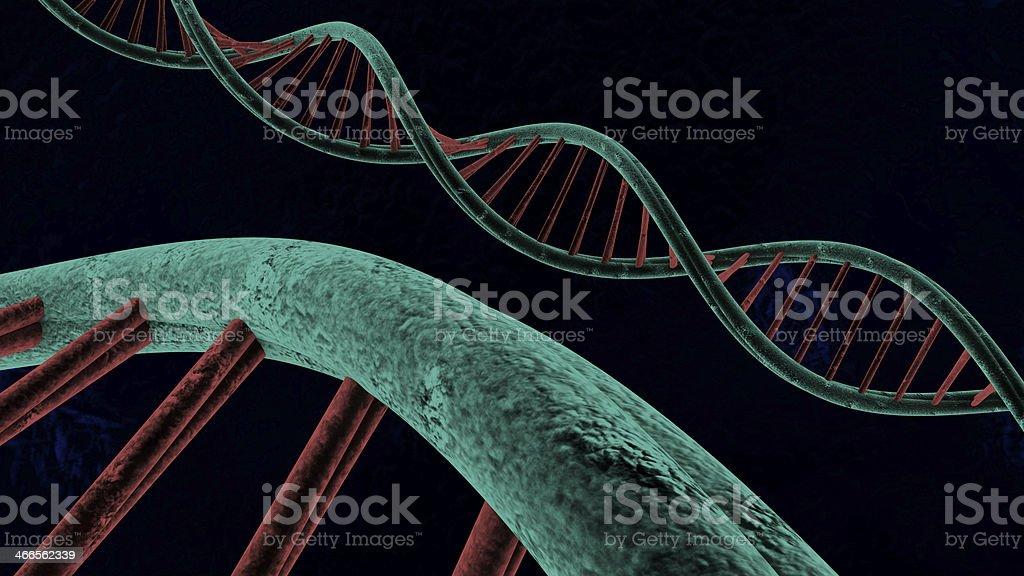 chain of deoxyribonucleic acid stock photo