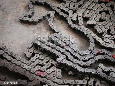 Chain of machinery.