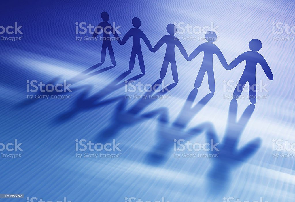 Chain of people holding hands - Royalty-free Abstract Stock Photo
