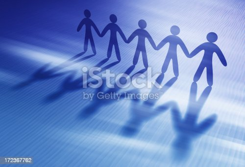 istock Chain of people holding hands 172367762