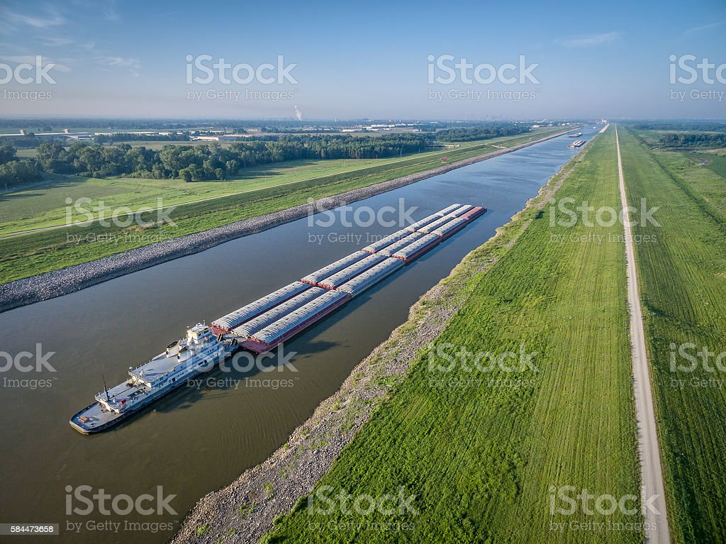 Chain of Rocks Canal stock photo