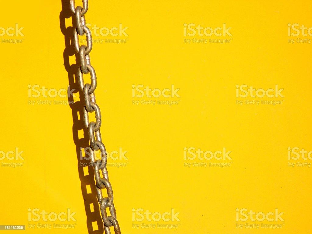 Chain on Yellow stock photo