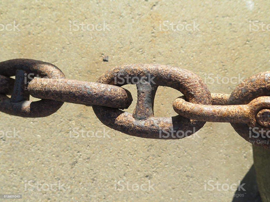 Chain Rusty Iron stock photo