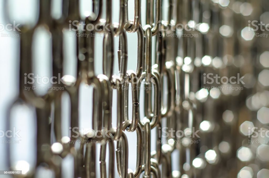 chain steel background macro - Royalty-free Attached Stock Photo