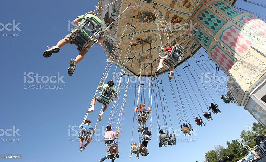 Chain swing ride carousel royalty-free stock photo