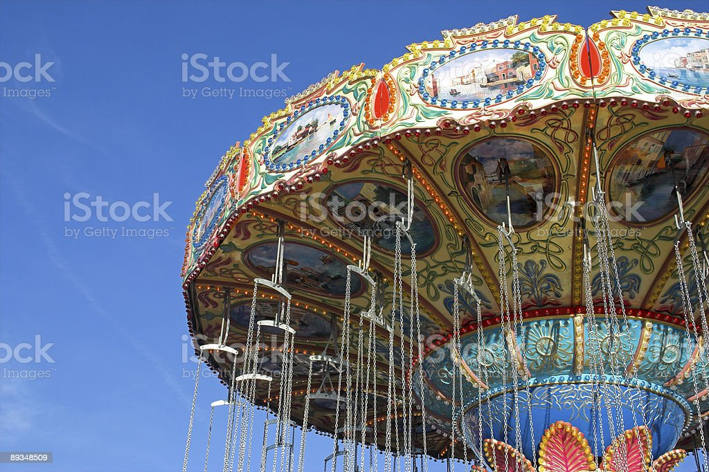 Chain Swing Ride royalty-free stock photo