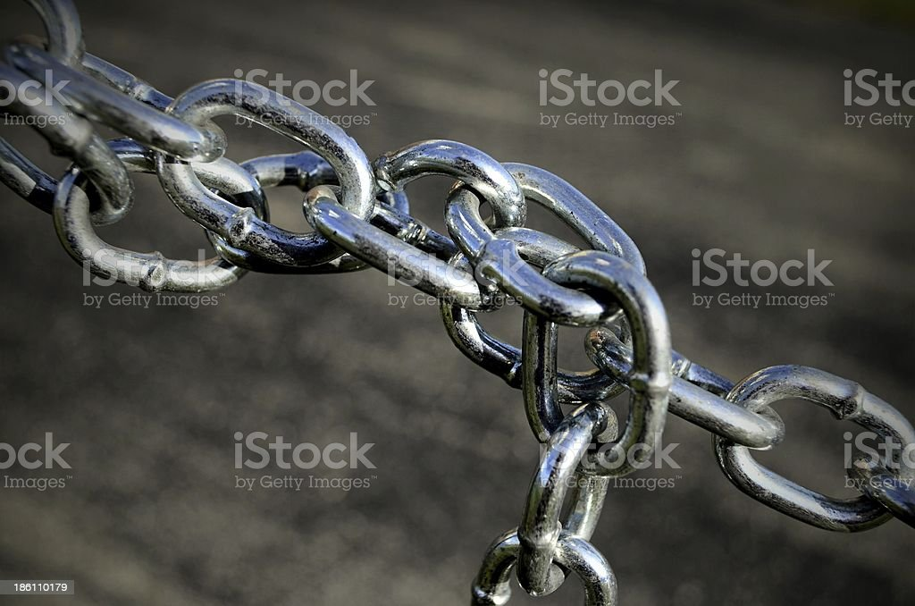 Chain twist diagonal stock photo
