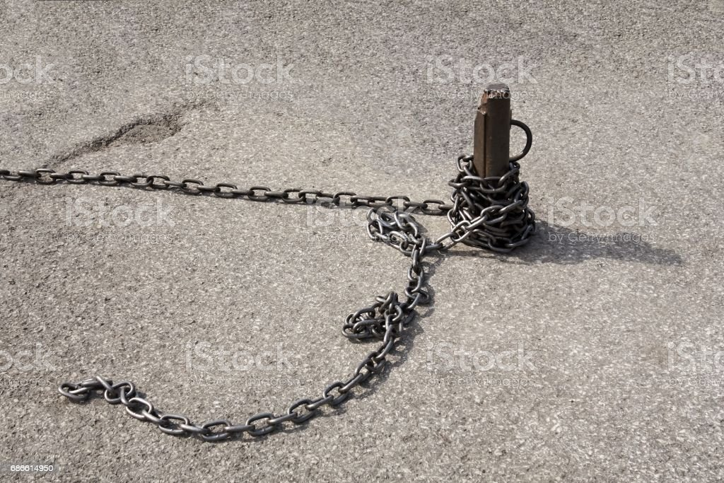 Chain with pin royalty-free stock photo