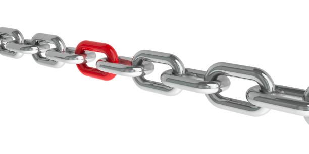 catena con un anello rosso#2 - anello catena foto e immagini stock