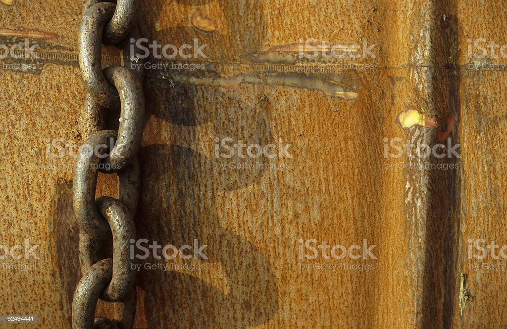 Chained Barrel royalty-free stock photo