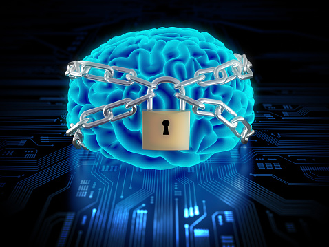 Chained brain with lock on circuit board