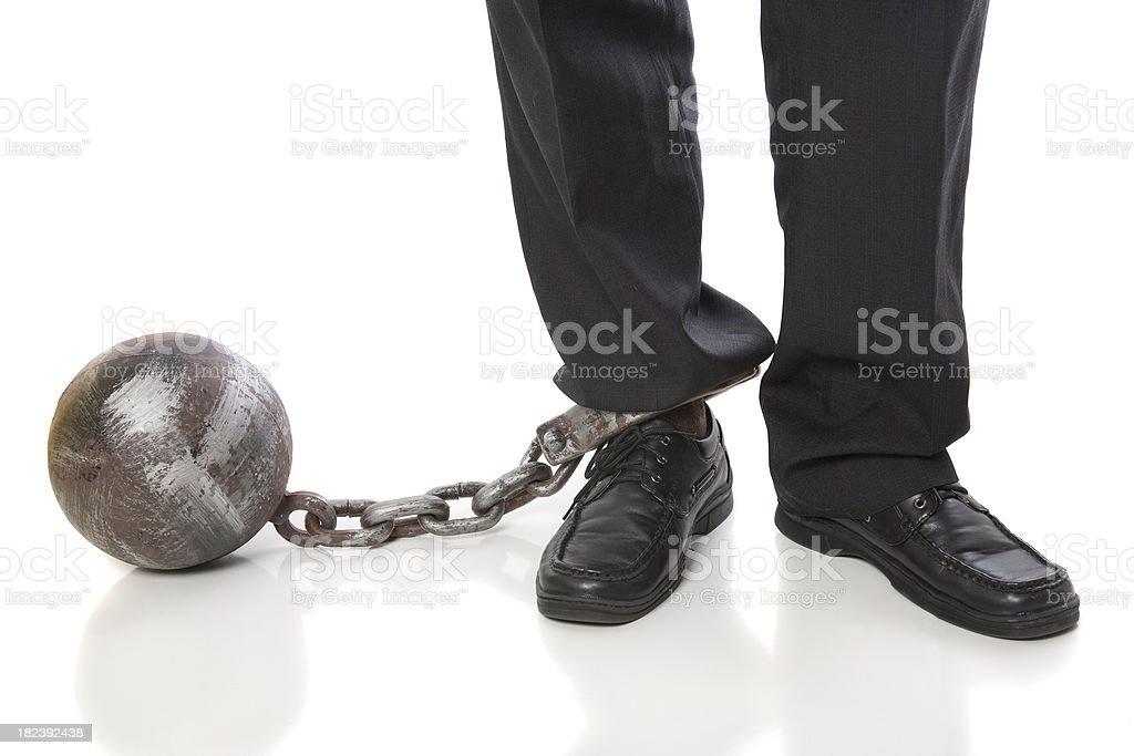 Chained Feet stock photo