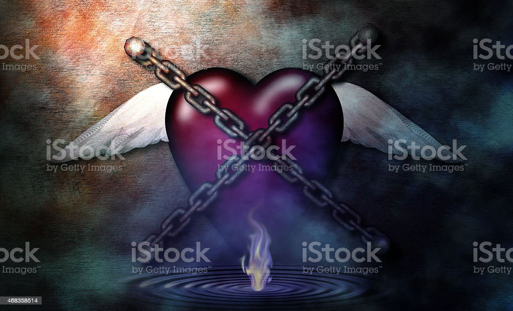 Chained Heart royalty-free stock photo