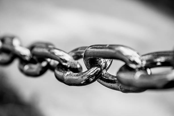 Chained stock photo