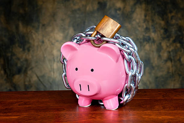Chained piggybank