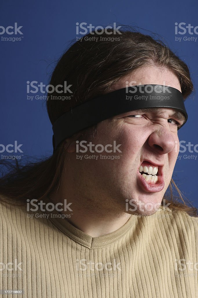 Chained to misery royalty-free stock photo