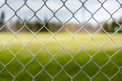 chainlink fence, Saskatoon, SK, Canada.