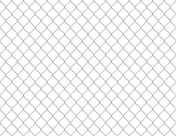 clôture grillagée - grillage photos et images de collection