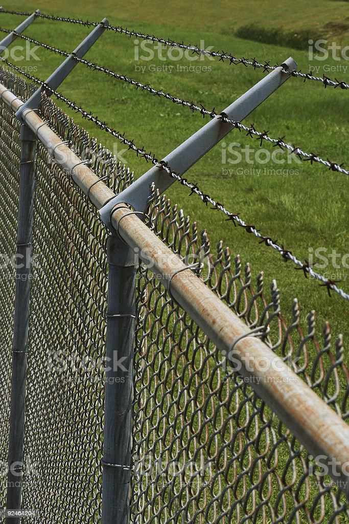 Chainlink Fence03 royalty-free stock photo