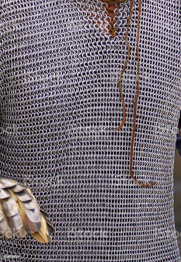 Chainmail shirt stock photo