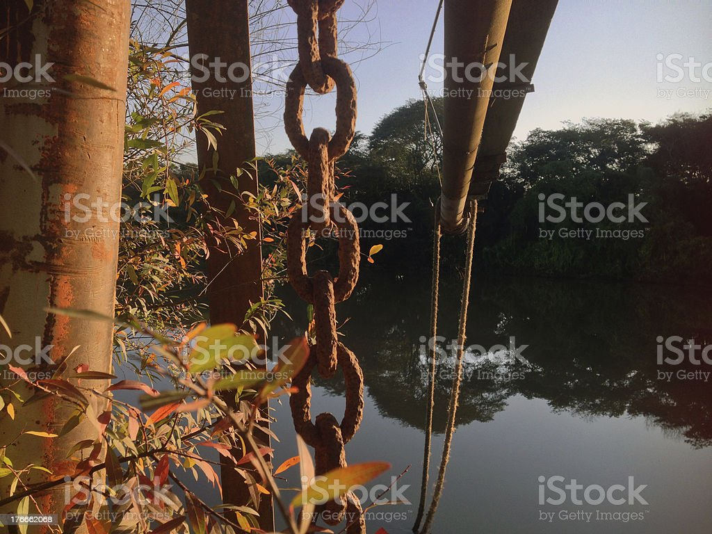 Chains in Nature royalty-free stock photo