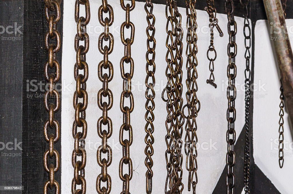 Chains of iron. stock photo