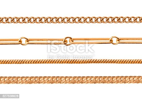 istock Chains on a white background 527538628