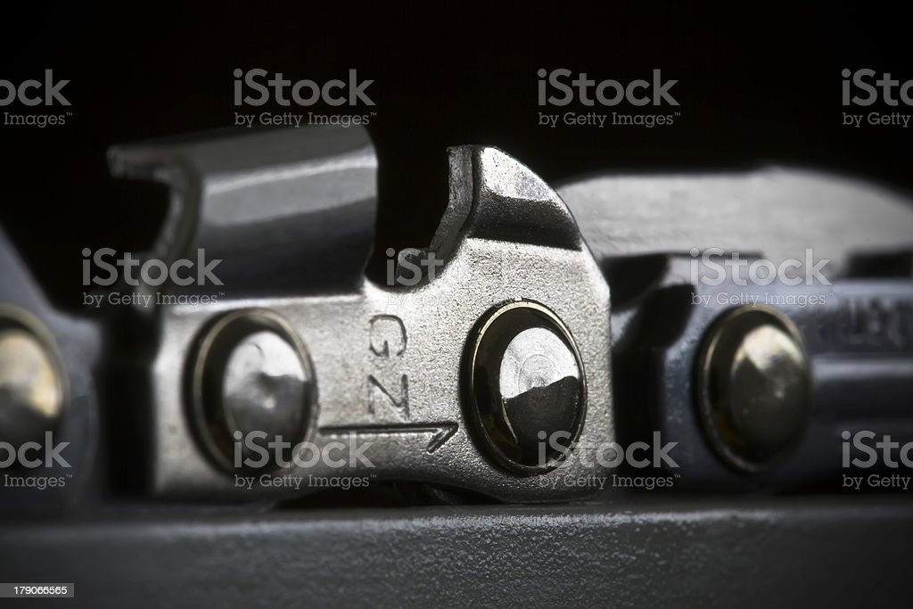 Chainsaw Chain Detail royalty-free stock photo