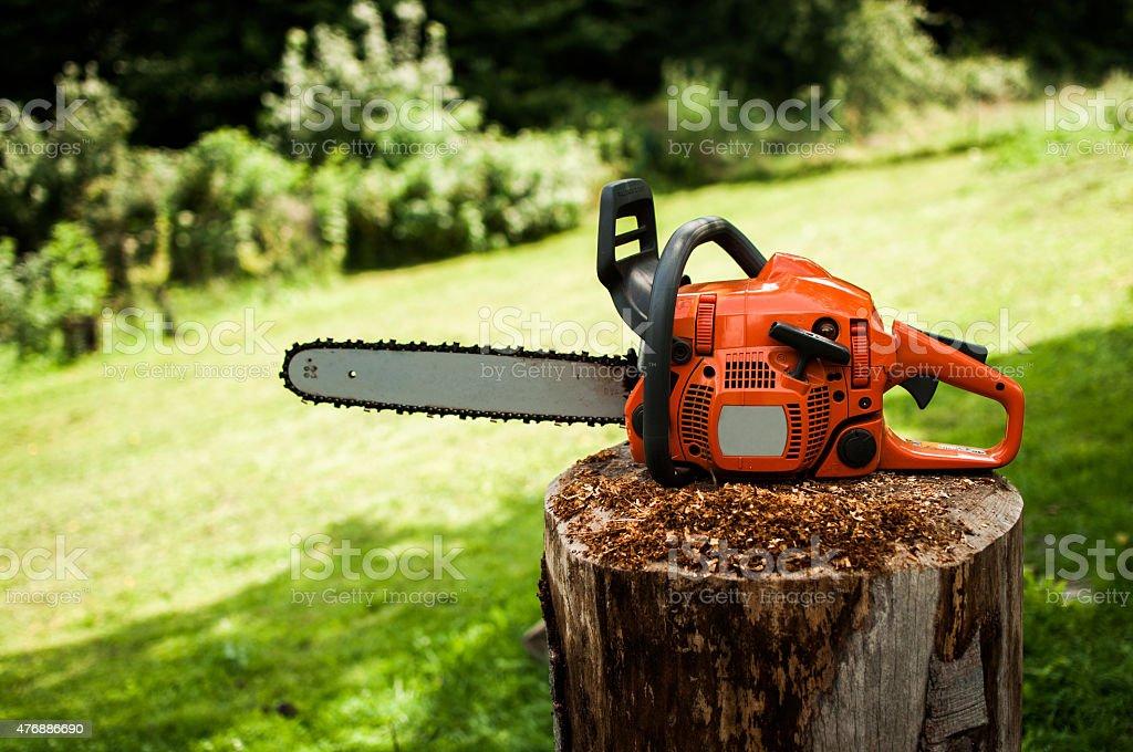 Chainsaw stock photo