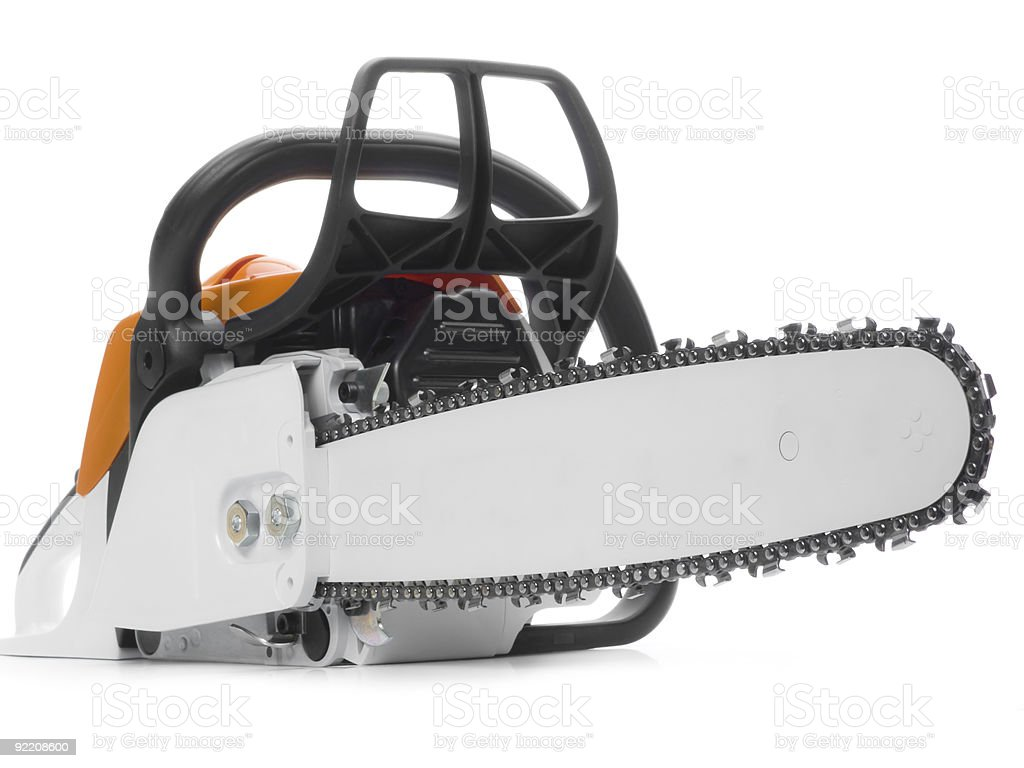 Chainsaw royalty-free stock photo