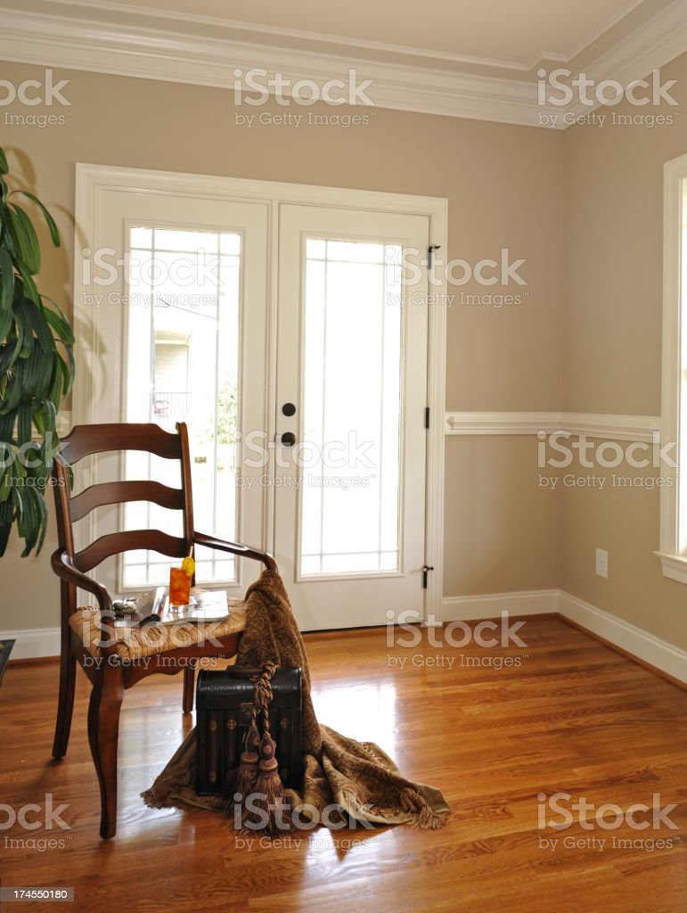 Chair and a Door royalty-free stock photo