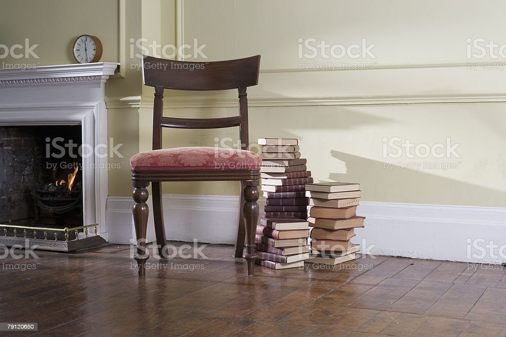 Chair and books royalty-free stock photo