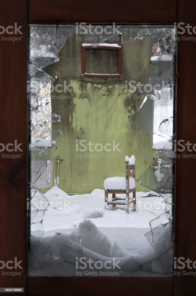 Chair and Broken Frame stock photo