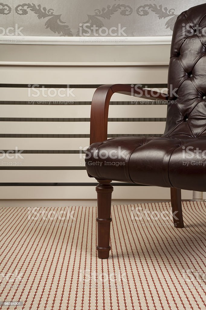 chair and capet royalty-free stock photo