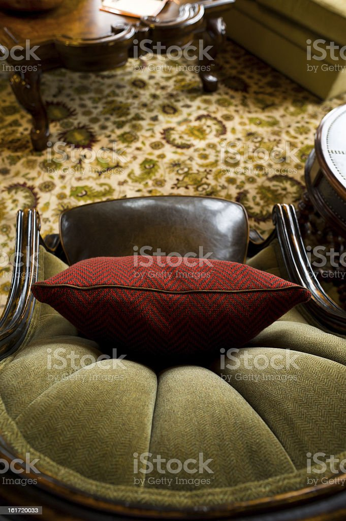 Chair and Cushion stock photo