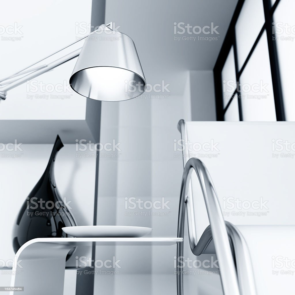 chair and lamp royalty-free stock photo