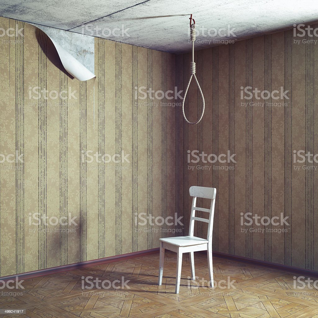 chair and noose stock photo