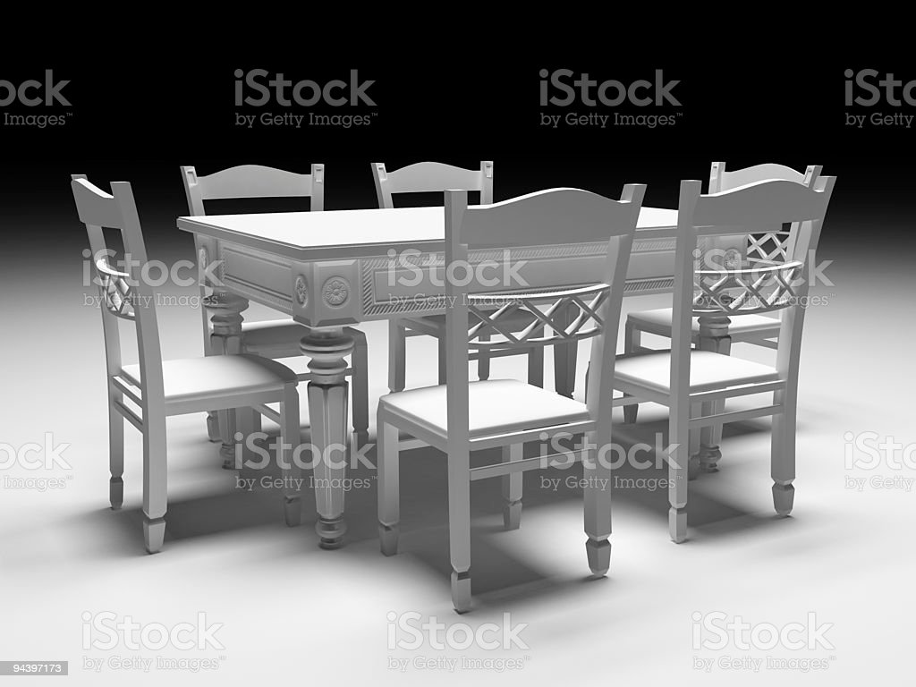 Chair and Table royalty-free stock photo