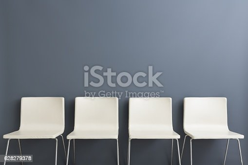 resources job employment career jobless recruitment interview business applicant hiring talent design hire chair white minimalism sitting blank space headhunting concept - stock image