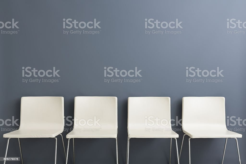 Chair background concept - recruitment hire hiring interview - foto de stock