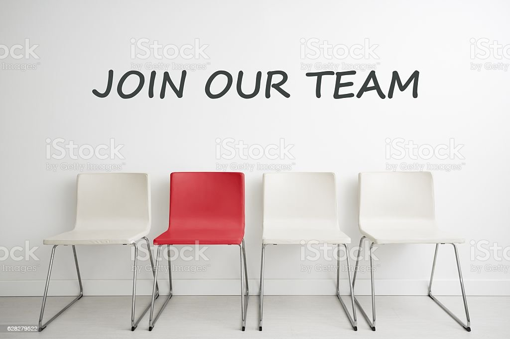 Chair background concept - recruitment hire hiring interview royalty-free stock photo