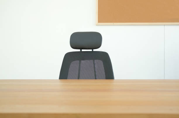 chair desk table at home office. working space workplace workspace chair desk table at home office. co working space workplace workspace empty desk stock pictures, royalty-free photos & images