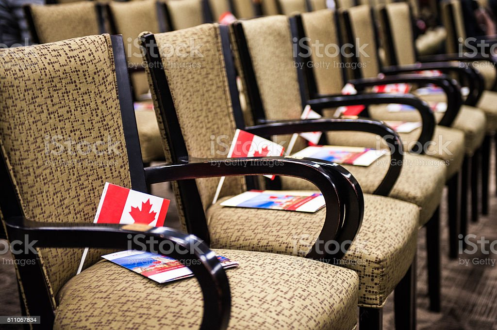 Chair in a meeting roo stock photo