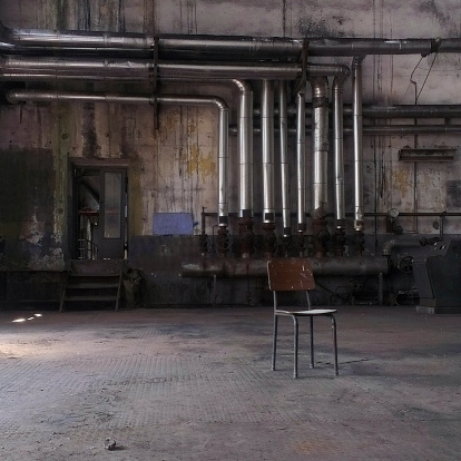 istock Chair in an abandoned factory, Istanbul, Turkey 171579227