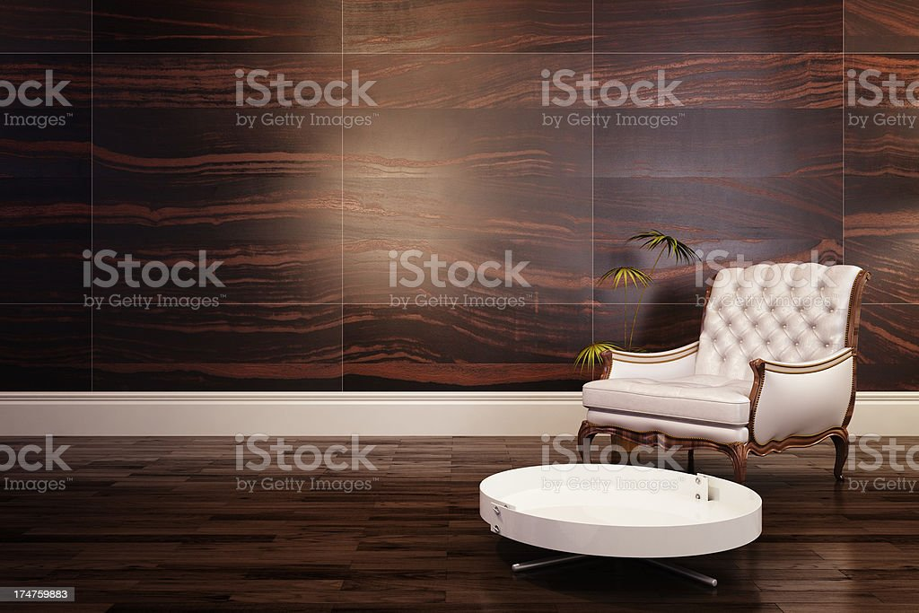Chair in living room royalty-free stock photo