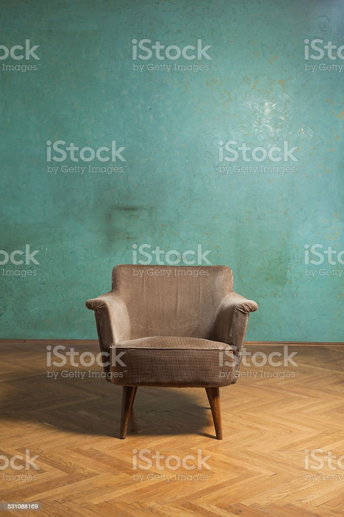 Chair in room stock photo